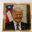 UNIQUE ART. DOUBLE SIDED SLIDING HAND PUZZLE. PREESIDENT DONALD TRUMP VS LIBERTY 4X4