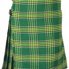 Irish National Men's 8 Yard Scottish Kilt Size 34 Waist Highland Tartan Kilt Casual Pleated Skirt