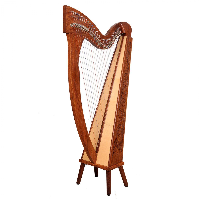 Rosewood 29 Strings Trinity Harp, Celtic Irish harp, Irish lever Harp