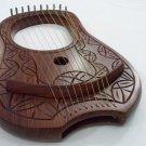 New Lyra Harp Engraved Rosewood/Lyre Harp 10 Strings/Lyra Harfe