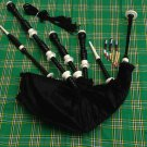 GREAT SCOTTISH HIGHLAND BAGPIPE ROSEWOOOD IMMMATION IVORY MOUNT BLACK COLOR