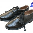Real LEATHER SCOTTISH GHILLIE KILT LEATHER BROGUES SHOES, KIDS YOUTHS Kilt Shoes