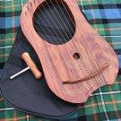 Lyra Harp Rosewood 10 Metal Strings/Rosewood Lyre Harp Metal Strings Free Case