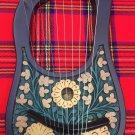 Lyre Harp 10 Metal Strings Rosewood Thistle Design/Lyra Harp Sheesham Wood + Key