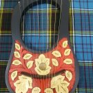 Hand Engraved Lyre Harp 10 Metal Strings Rosewood/Lyra Harfe/Arpa Free Case Key