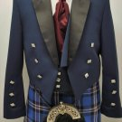 New Navy Prince Charlie Jacket & Vest Scottish Made for Kilts