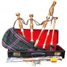 Great Highland Bagpipe Silver Mounts/Scottish Bagpipes with Hard Case