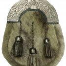Men's Scottish Dress Kilt Sporran Seal Skin Celtic Cantle Antique Highland Ware