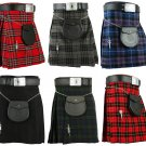 Scottish Men's Kilt Traditional Highland Dress Skirt Tartan Kilts