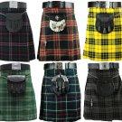 Scottish/Irish Men's Kilt Traditional Highland Dress Skirt Tartan Kilts