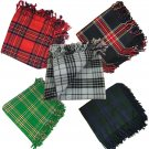 "Men's Kilt Fly Plaid Various Tartans 48""X 48"" Scottish Highland Kilt Fly Plaids"