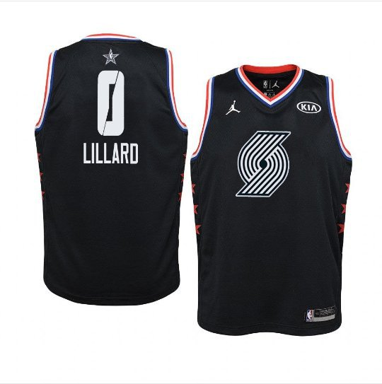 Youth Trail Blazers 2019 All Star Game #0 Black Damian