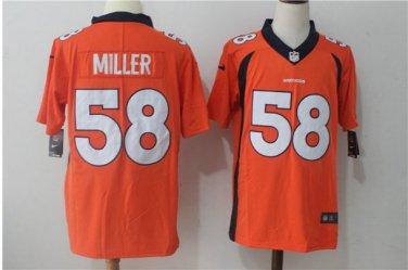 wholesale dealer 7b417 71441 Men's Denver Broncos 58# Von Miller Jersey Orange