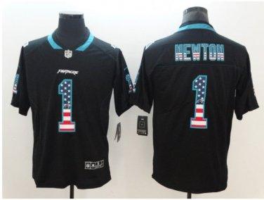 best service 22566 c5c38 Men's Carolina Panthers #1 Cam Newton Limited Jersey Black National flag