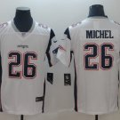 Men's Patriots 26# Sony Michel Limited Jersey White