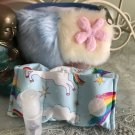 Fluffy Wallet with Unicorn Pouch.