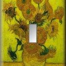 Van Gogh Vase Sunflowers Fine Art Single Switch Plate