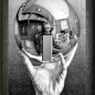 Hand Holding Reflective Sphere MC Escher Single Switch Plate