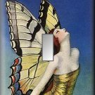 Beautiful Fairy Woman Butterfly Wings Single Switch Plate