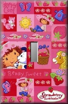 Strawberry Shortcake Collage Single Switch Plate