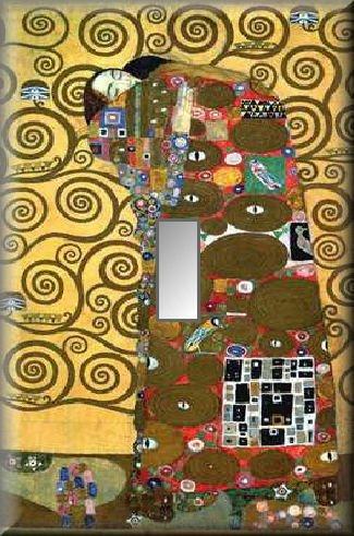 Klimt Tree of Life Detail Single Switch Plate