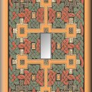 Colorful Celtic Knots Design Single Switch Plate
