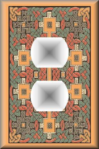 Colorful Celtic Knots Design Regular Outlet Cover