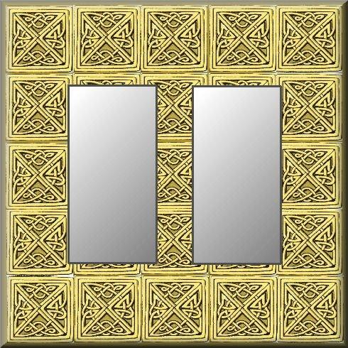 Tiled Square Celtic Knots Design Double Rocker Switch Plate