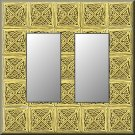 Tiled Square Celtic Knots Design Double Rocker Switch Plate