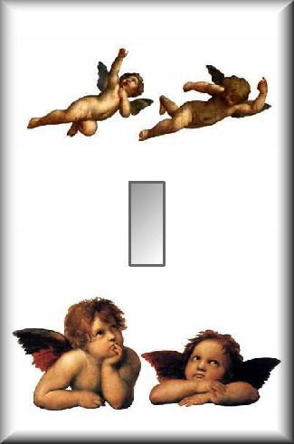 Classic Angels Cherubs Single Switch Plate