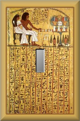 Ancient Egyptian Hieroglyphics Pharaoh Single Switch Plate