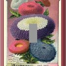 Vintage Aster Flowers Seed Packet Single Switch Plate