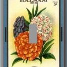 Vintage Balsam Flower Seed Packet Single Switch Plate