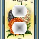 Vintage Balsam Flower Seed Packet Outlet Cover