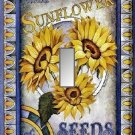 Vintage Sunflower Flower Seed Packet Single Switch Plate