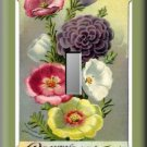Vintage Moss Rose Flower Seed Packet Single Switch Plate