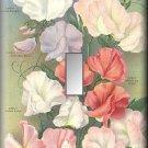 Flowering Sweetpeas Vintage Flower Seed Packet Switch Plate