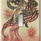 1880s Postcard Uncle Sam Firecrackers Single Switch Plate #2