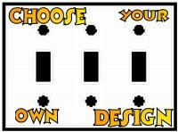 Customize A Triple Toggle Switch Plate With Your Choice Of Design!