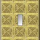 Tiled Square Celtic Knots Design Single Switch Plate