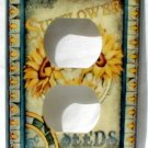 Vintage Sunflower Flower Seed Packet Outlet Cover