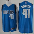 Men's Dallas Mavericks 41 Dirk Nowitzki Basketball Jersey Blue