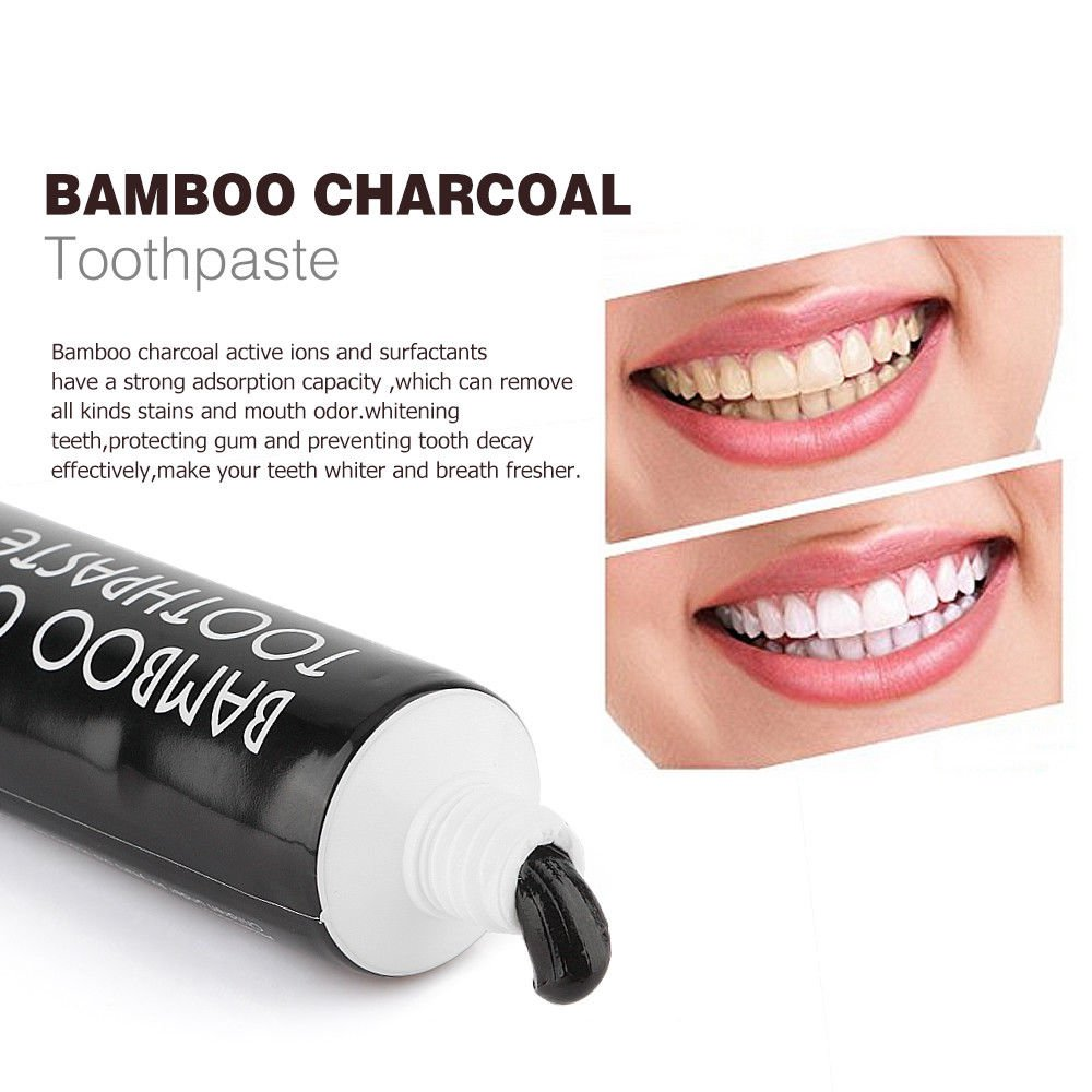 Activated Bamboo Charcoal Toothpaste Oral Care Whitening Teeth US Shipping New