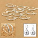 100 Pcs/ lot 925 Sterling Silver Hooks Coil Ear Wire Earrings Leverback Earwire!