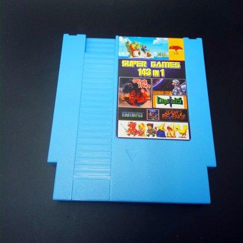 Super Game 143 In 1 72 Pin Cartridge Card Nintendo NES Multicart 100 Best Retro