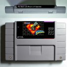 The Death And Return Of Superman Super Nintendo SNES Action Game Card US Version