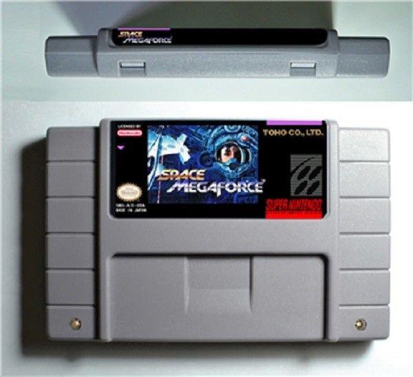 Space Megaforce Super Nintendo SNES 16 Bit NTSC Action Game Cartridge US Version