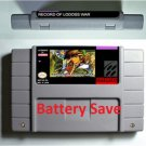 Record Of Lodoss War Super Nintendo SNES NTSC Game Cartridge US Version English