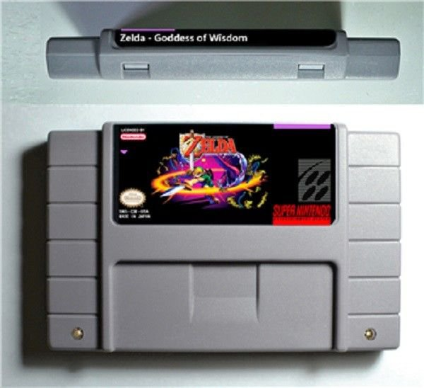 Zelda Goddess of Wisdome SNES Super Nintendo 16 Bit NTSC Video Game USA Version