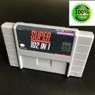 Super Nintendo SNES 102 in 1 Game Cartridge Console USA NTSC English Version